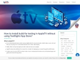 How to install build for testing in AppleTV without using Testflight/App Store?