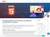 Managing Builds and HTML files for Different Environment in Angular