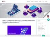 Why Do Modern Businesses Prefer Cross-Platform Mobile App Development?