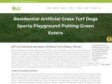 Faux Grass Installation Estero