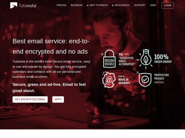 Tutanota Mail - 10 Best Gmail Alternatives 2020