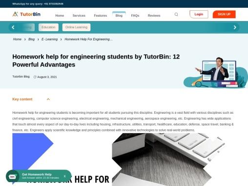 Homework Help For Engineering Students By TutorBin