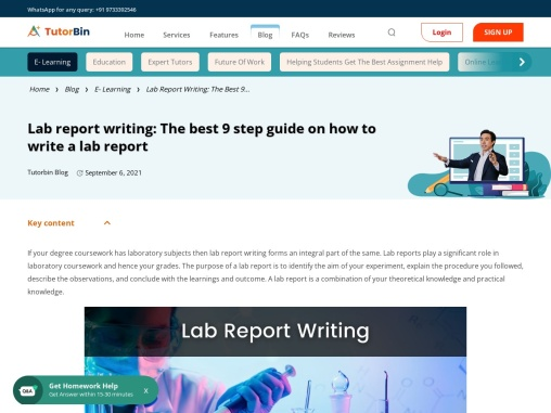 Lab Report Writing | Guide To Write The Perfect Lab Report