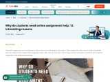 Why do students need online assignment help in 2021