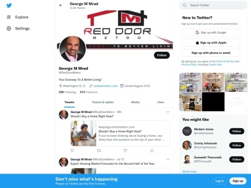 George M. Mrad | Red Door Metro | Real estate