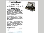 50 CONSEILS AUX BLOGUEURS DEBUTANTS
