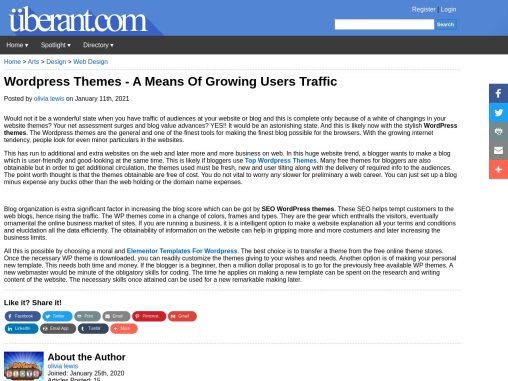 WordPress Themes – A Means Of Growing Users Traffic