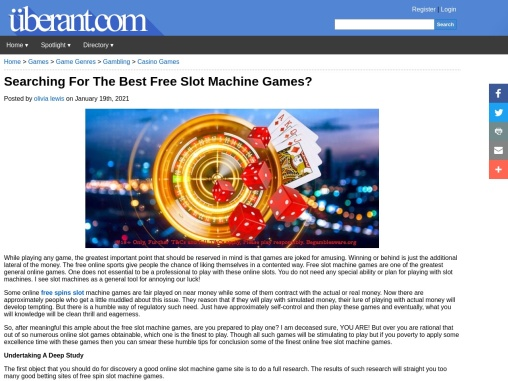 Searching For The Best Free Slot Machine Games?