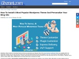 How To Install A Most Popular WordPress Theme And Personalize Your Blog Site