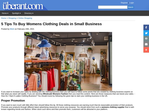 Wholesale Womens Fashion – Ideas To Start Clothing Business From Zero!