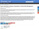Factors helping to enhance Automation in CDM
