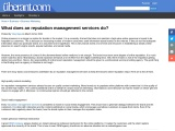 What does an reputation management services do?