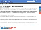 SAP HANA Exams and Types of Certifications