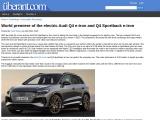 The new Audi Q4 e-tron fully electric SUV