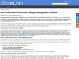 What Forwarders need from a Freight Management Software