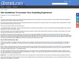 Slot Guidelines To Increase Your Gambling Experience
