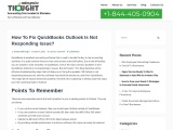 How To Fix QuickBooks Outlook Is Not Responding Issue?