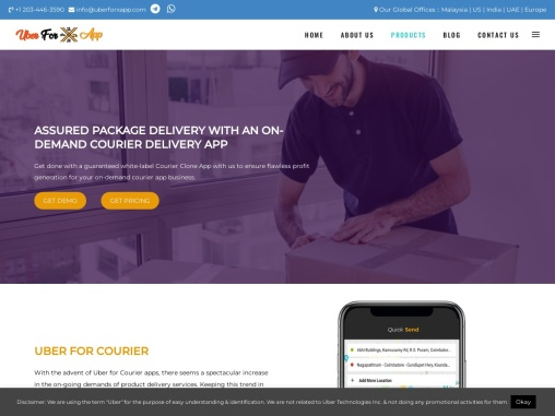 Courier delivery app development for easy booking