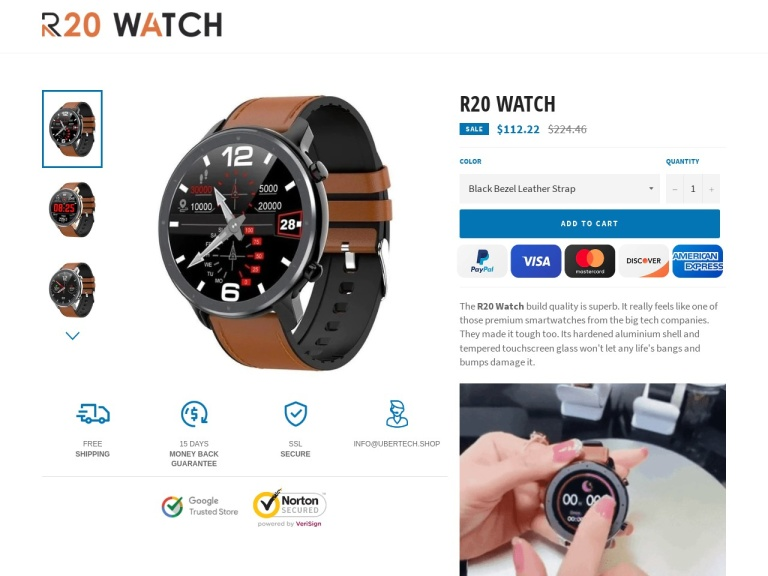 R20 Watch screenshot