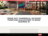 INSIDE OUT: COMMERCIAL OUTDOOR FURNITURE GUARANTEED TO BRING BUSINESS IN
