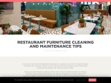 Restaurant Furniture Cleaning and Maintenance Tips | UHS