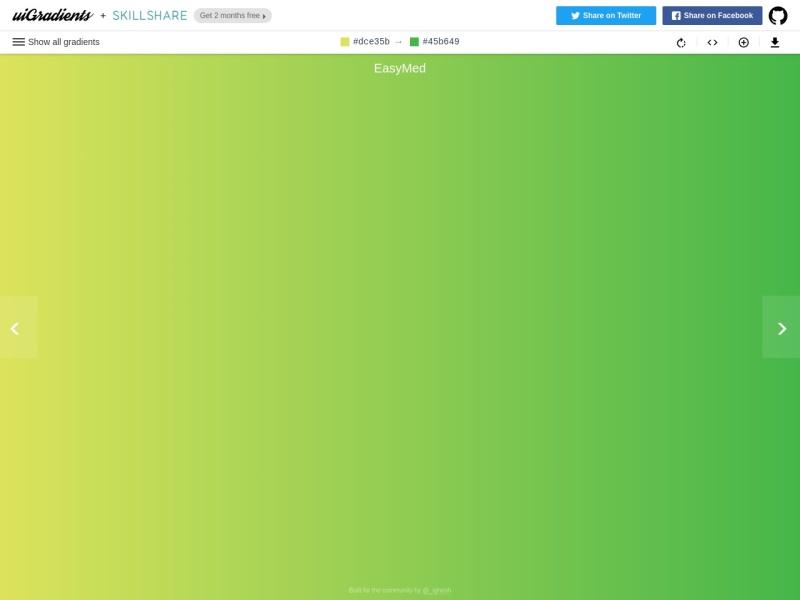 uiGradients | CSSグラデーション生成ツール