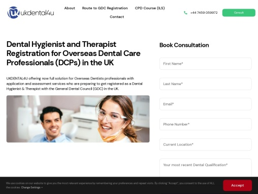 Dental Hygienist and Therapist Registration for Overseas Dental Care