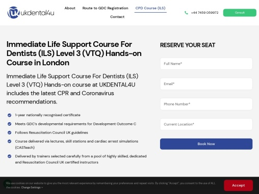 Immediate Life Support Level 3 (VTQ) Hands-on Course in London