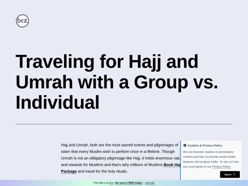 Traveling for Hajj and Umrah with a Group vs. Individual