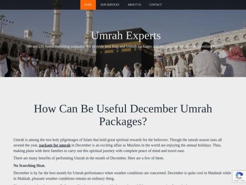 How Can Be Useful December Umrah Packages?