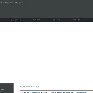 天皇陛下御即位をお祝いする国民祭典に伴う交通規制 - unavailable days