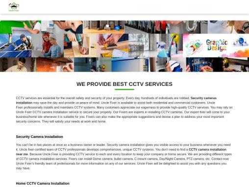 CCTV Services| CCTV Installation– Uncle Fixer