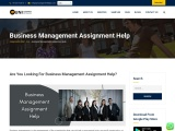 Business management assignment writing help services