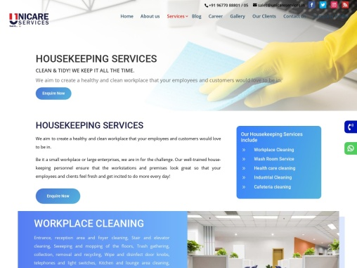 Housekeeping Services    Unicare Services