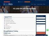 F5 Load Balancer Training in India