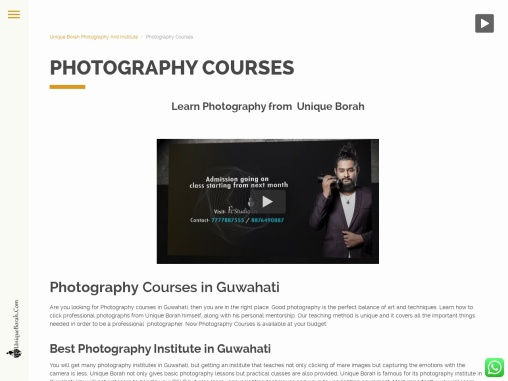 Best Photography Institute in Guwahati with its budget-friendly courses