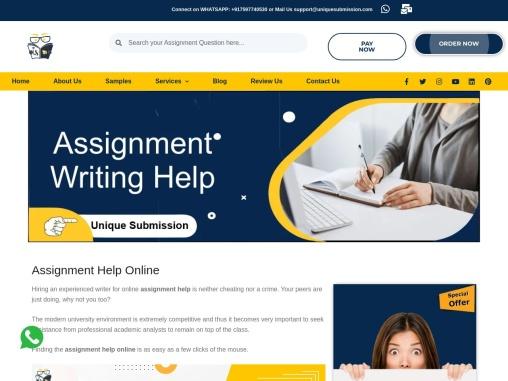 Best Online Assignment Helpers