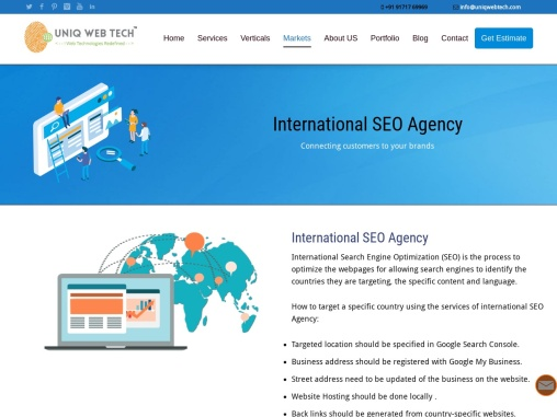 International SEO Services – Connecting customers to your brands