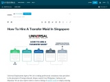 How To Hire A Transfer Maid In Singapore