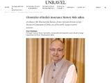 Chronicler of India's insurance history bids adieu