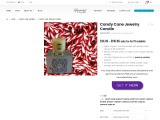 Candy cane Candle | Jewelry In Candles Rings