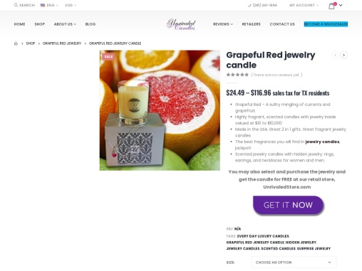 Grape scented candle | Jewelry In Candles Rings