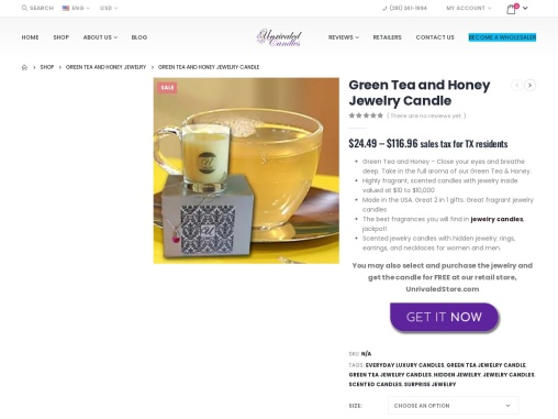 Honey Candles | Jewelry In Candles Rings