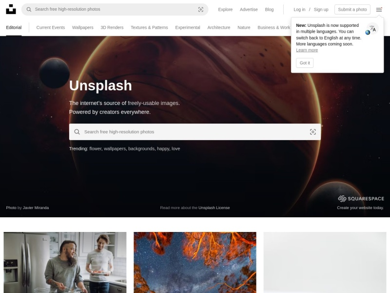 Unsplash | 無料で商用利用可。掲載許可やクレジット表示不要のフリーフォトサイト