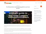 Solar Lanterns complete buying guide for your home garden