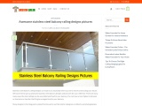 stainless steel balcony railing designs | Steel railing designs pictures