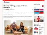 Checklist of Things to Look for Before Relocating – Urban Movers