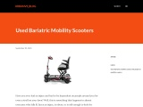 Used Bariatric Mobility Scooters