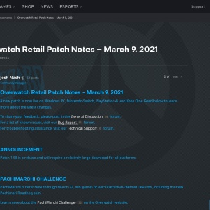 Overwatch Retail Patch Notes – March 9, 2021 - Announcements - Overwatch Forums