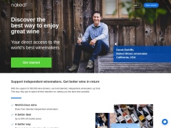 NakedWines.com screenshot